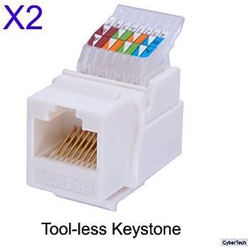 amazon com idc rj45 cat6  cat5e tool less no punch down