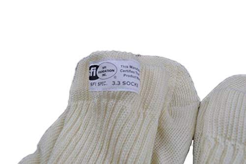 RACERDIRECT SFI 3.3 White Small Racing Socks Underwear Nomex
