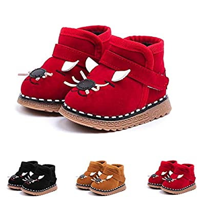 Tronet Winter Kids Shoes, Toddler Baby Girls Keep Warm Solid Cartoon Sneaker Boots Snow Baby First Walker Shoes