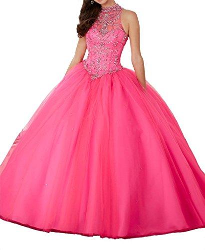 hot pink 15 anos dresses - 4