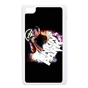 Popular And Durable Designed TPU Case with Linkin Park iPod Touch 4 Case White