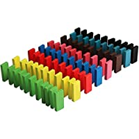 ArtBee Colorful Wooden Domino Set for Kids Colourful Wooden Dominos Toy Colourful Wooden Blocks (120 Pcs)
