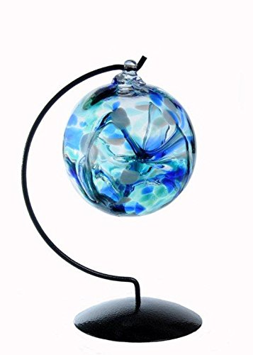 Witch or Spirit Ball with Stand in a Blue Color -