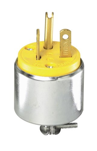 (Leviton 000-620PA YEL ARMORED PLUG, Pack of 1, Steel/Yellow)