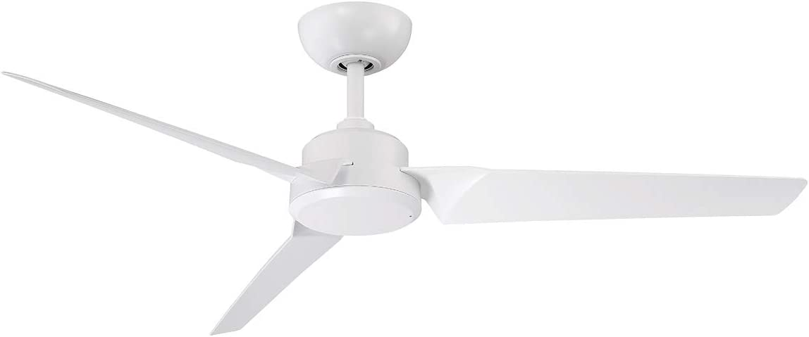 Modern Forms FR-W1910-52-MW Contemporary Modern 52``Ceiling Fan from Roboto Collection Finish, 52in Blade Span, Matte White