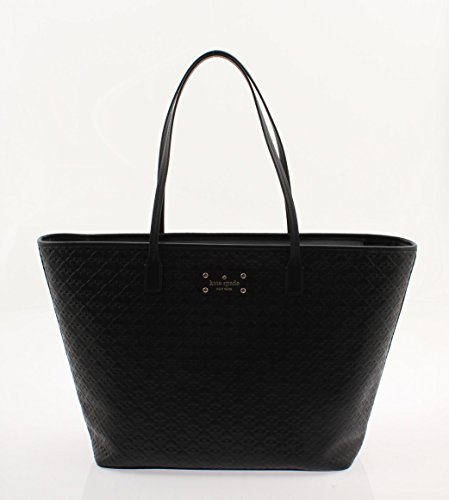 Kate Spade New York Penn Place Margareta Embossed Leather Shopper Tote (Black) ()