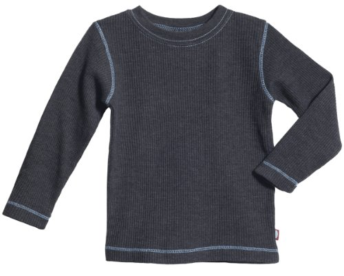 City Threads Big Boy and Girl Solid Thermal Tee T Shirt Shirt, Charcoal, 10