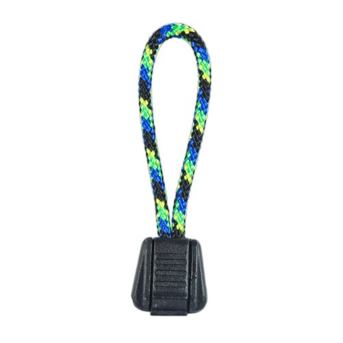 PARACORD PLANET Zipper Pulls Combinations - Choose from 5, 10 and 20 Pack Sizes (Aquatica/Black, 10 Pack)