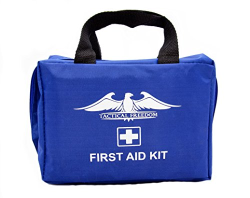 First Aid Kit Emergency Survival - Perfect for Backpacking, Boating, Camping, Hiking, Home, Travel, Business, Car. First Aid Kit Contains Belt Tourniquet, Trauma Pads, Cold Pack, Bandages and more