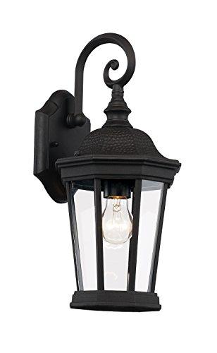 Trans Globe Lighting 40400 BK Westfield Outdoor Black Traditional Wall Lantern, 16