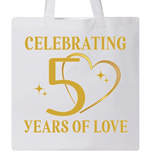 Inktastic - 50th Wedding Anniversary Gift 50 Years Tote Bag White 2d466 by inktastic