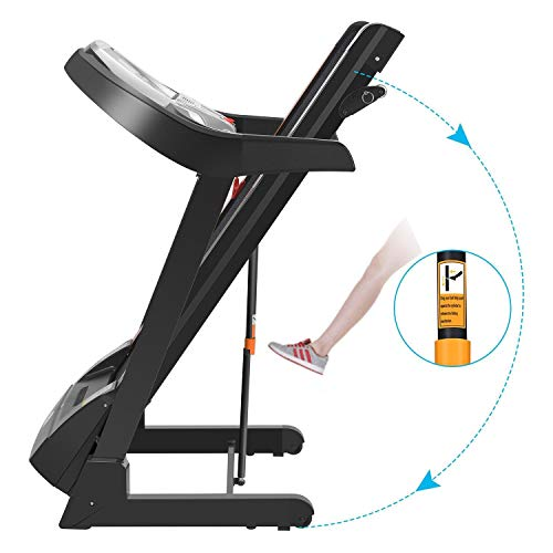Folding Electric Treadmill Incline with Smartphone APP Control, Power Motorized Fitness Running Machine Walking Treadmill(US Stock) (2.25 HP #2) by Tomasar (Image #3)