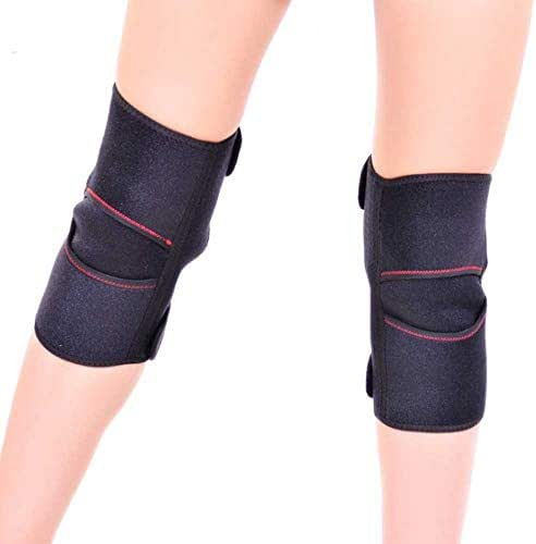 MOXIN Tourmaline Knee Support Brace, 1 Pair Cold-Proof Adjustable Therapy Pad, Sports Injury Rehabilitation & Protection Against Reinjury, Arthritis Joint Pain
