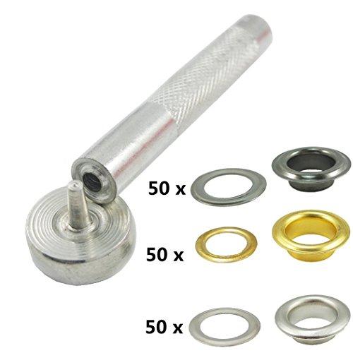 Gold Grommets (Inton 150 Sets - Grommet Eyelets 6mm 1/4