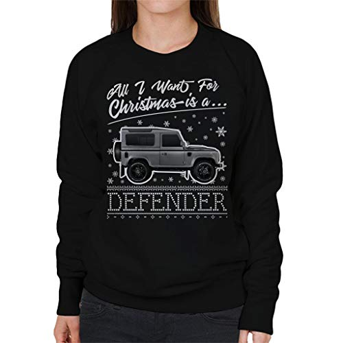 Sweatshirt Women's I Is Defender Want Black Christmas For A All Coto7 5WSq4zA8x