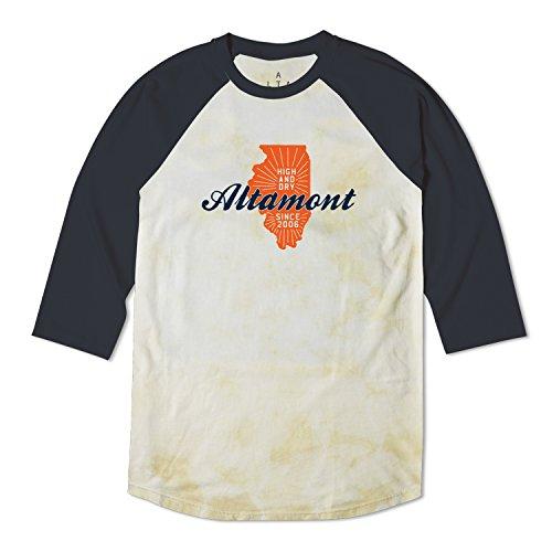 Altamont Tee (ALTAMONT Men's High and Dry State Raglan T-Shirt, Beige, Medium)