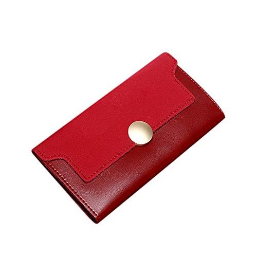 Zantec Mode Frauen Trifold Pu leder Dame Handtasche Brieftasche Kupplung Karte Fall Münztüte Matting Handtasche Weihnachtsgeschenke rot