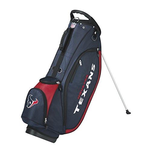 Wilson NFL Houston Texans Carry Golf Bag, Navy/Red, One Size (Wilson Nfl Golf Cart Bag)