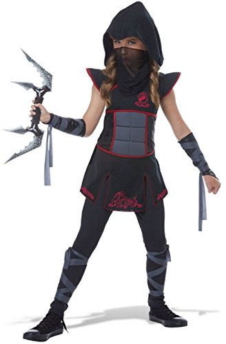 Fearless Ninja Girls Costume Black/Red ()