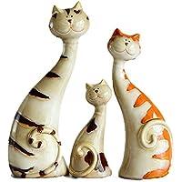 WACKO&LEEOOOrnamenti in Ceramica di Famiglia, Stile Moderno Creativo Decorazione Animale Ornamento Porcellana Moda Colore Elementi Decorativi