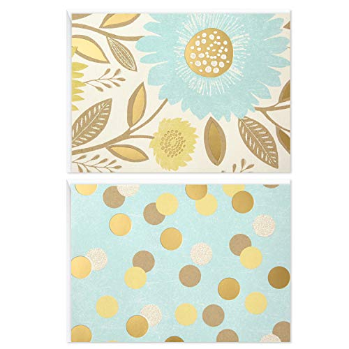 Hallmark Blank Note Cards (Flowers and Dots, 50 Blank Cards or Thank You Cards with Envelopes) - 5WDN2069