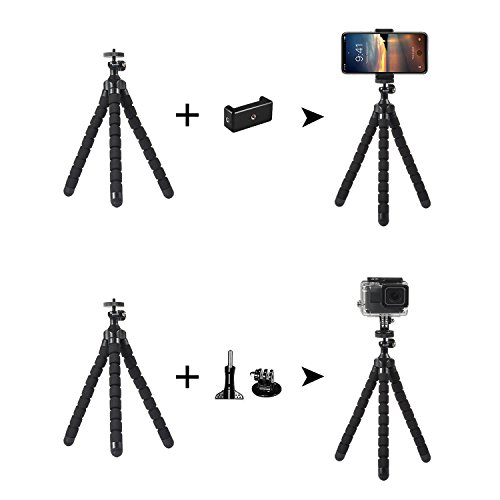 rhodesy octopus style tripod stand holder for any smartphone  camera with clip