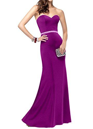 Partykleider Festlich Ballkleider Damen Elegant Spitze Lang Chiffon Fuchsia Blau Charmant Royal Abendkleider zwdq8Z0H