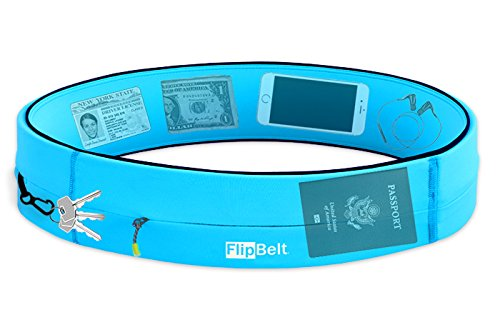 FlipBelt Running & Fitness Workout Belt, Aqua, X-Small by Level Terrain (Image #1)