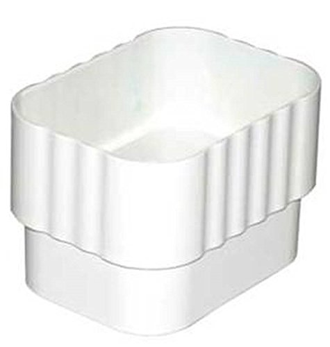 Amerimax Home Products 2 in. x 3 in. White Vinyl Downspout Connector