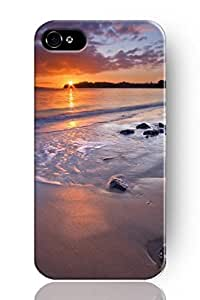 Original Chuntihavi NEW Hard Skin Case Cover Shell for mobilephone Apple Iphone 4 4S, Interesting Fashion Design with Beach and sunset by supermalls