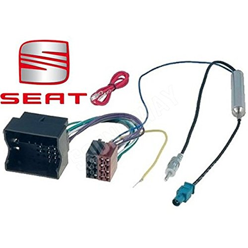 ALTEA adaptador ISO para SEAT IBIZA/LEON-Cable conector de audio con adaptador de antena amplificado fakra Sound-Way