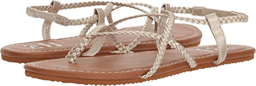 Billabong Women's Crossing Over 2 Flat Sandal, Gold, 10 M US by Billabong