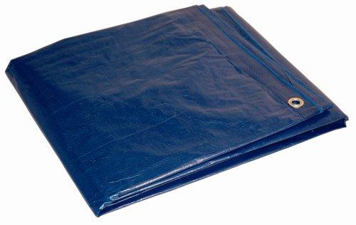 16x32 Multi-Purpose Blue Medium Duty DRY TOP Poly Tarp (16'x32') ()