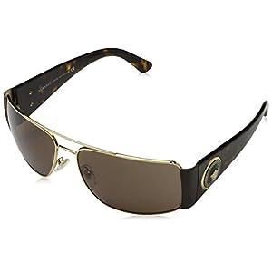 Versace Men's VE2163 Sunglasses Gold / Brown 63mm