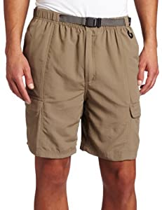 Amazon.com: White Sierra Men's Safari Shorts (8-Inch Inseam) (Bark ...