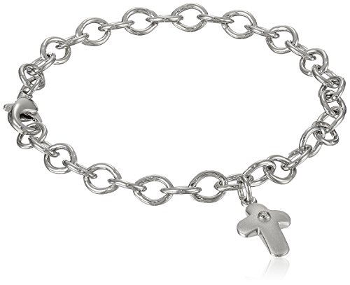 Sterling Silver Pre Teen Diamond Bracelet