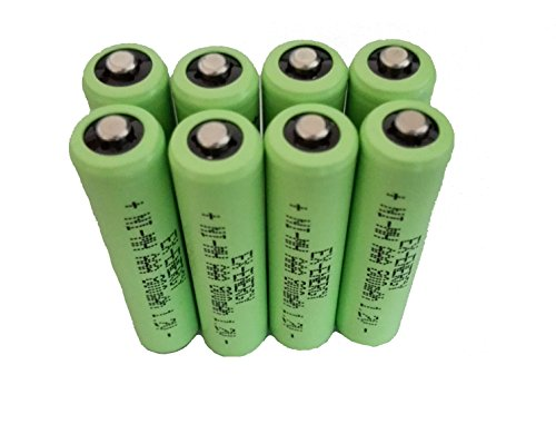 - EX-ENERGY AAA 1.2V 800mAh LSD Button top NiMH Rechargeable Batteries 8 Pack with Battery Storage Box