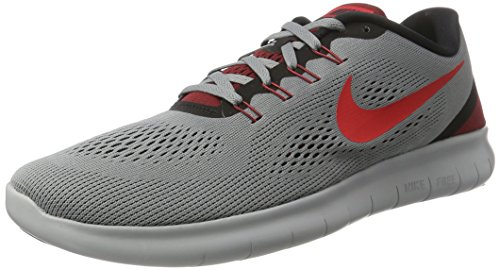 NIKE Men's Free RN Running Shoe Cool Grey/Action Red/Black/Team Red