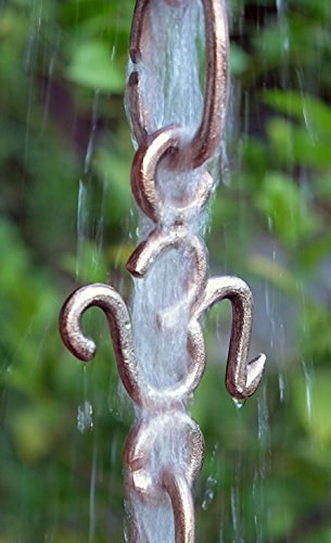OM Cast Link Rain Chain with Installation Kit (14 Foot) by Nutshell Stores