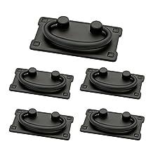 "Franklin Brass P62076-FB-C1 3"" Horizontal Bail Kitchen Cabinet Hardware Drawer Handle Pull , Flat Black, (5 Pack)"
