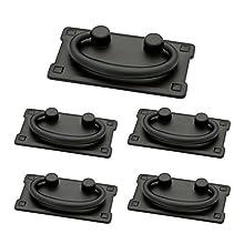 Franklin Brass P62076-FB-C1 Liberty 3-Inch Horizontal C-C Bail Kitchen Cabinet Hardware Drawer Handle Pull (5 PACK), Flat Black, 5 Pack