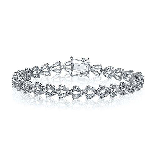 Montage Jewelry Bridal Women's Sterling Silver & Cubic Zirconia Eternity Wreath - Wreath Eternity