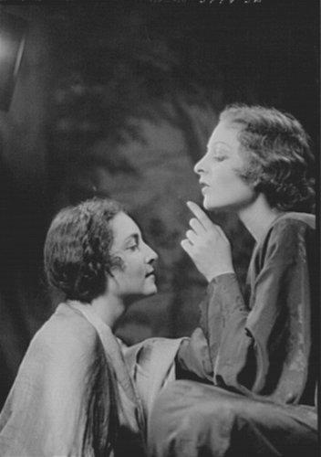 1930 Photo Dolin, Hortense, & Judy Dolin, vintage black & white photo B336