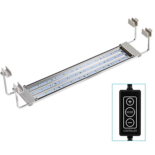 GOOBAT Dimmable LED Aquarium Light with Stable Extendable Brackets for 18 to 27-Inch Fish Tank by GOOBAT