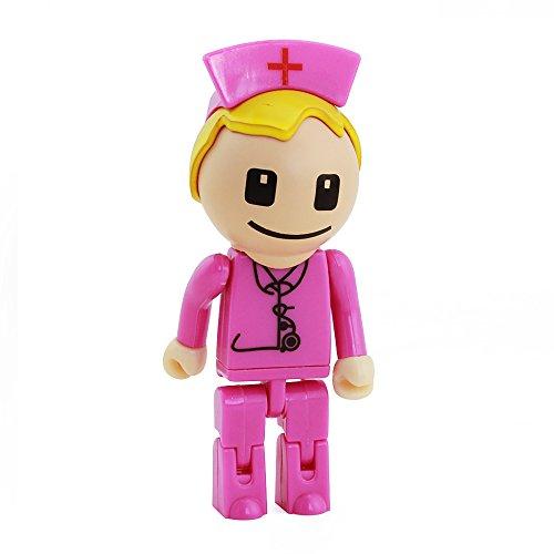 Usbkingdom 16GB USB 2.0 Flash Drive Cartoon Robot Nurse Shap