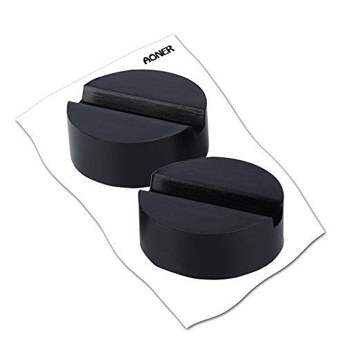 2pcs Bloc de Caoutchouc 65x34mm pour Cric Hydraulique Cric Tampon Solide Résistant Protéger le Bas de Caisse pour Cric Voiture Levage(Capacité du support est 2-3 Tonnes) high-quality