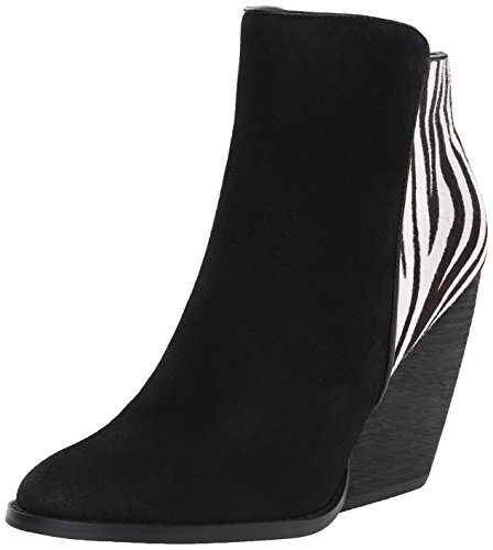 Very Volatile Women's Charla Boot, Black/White/Zebra, 7.5 B ()