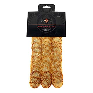 Marky's Russian Blinis for Caviar - 36 pcs - Handmade Breakfast Mini Pancakes Crepes Canape Best for Caviar and Roe