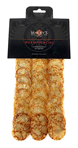 - Marky's Russian Blinis for Caviar - 36 pcs - Handmade Breakfast Mini Pancakes Crepes Canape Best for Caviar and Roe