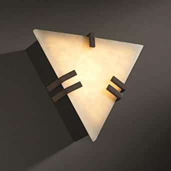 Justice Design CLD-5552-BLKN Ada Compliant Clips Triangle Wall Sconce